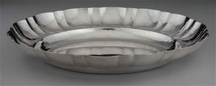 74153: A Jean Puiforcat Silver Bowl with Hand Hammered
