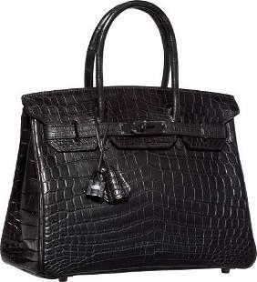 58296: Hermes Limited Edition 30cm Matte So Black Nilo