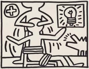 69201: Keith Haring (1958-1990) Untitled, 1981 Acrylic