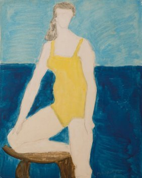 Milton Avery (1885-1965) Bather, 1961 Oil On Can