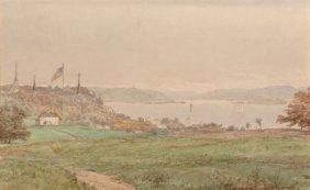 Jasper Francis Cropsey (american, 1823-1900) Loo