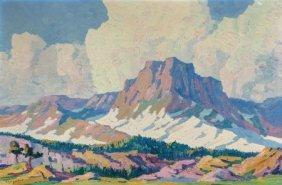 Birger Sandzén (american, 1871-1954) Mountain Pe