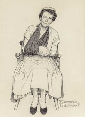 Norman Rockwell (american, 1894-1978) Her Stoic