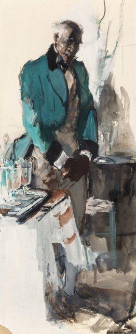 Dean Cornwell (american, 1892-1960) Waiting Oil
