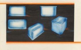 Viktor Schreckengost (american, 1906-2008) Blue