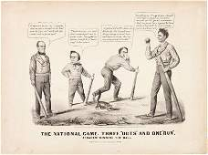 Abraham Lincoln: Baseball Theme Currier & Ives C