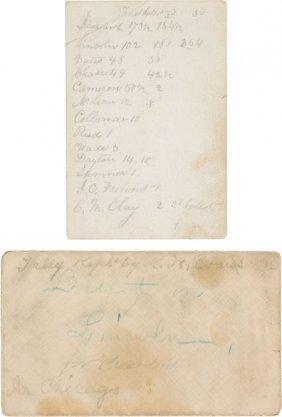 Abraham Lincoln: Wigwam Convention Tally Card. E
