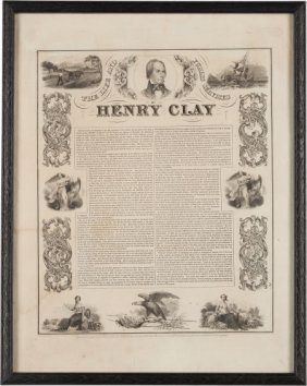 Henry Clay: Biographical Campaign Print Or Broad