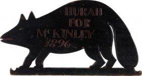 """William Mckinley: Folk Art Racoon Plaque. 23"""" X"""