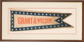 Ulysses S. Grant: 1872 Parade Pennant Or Banner.