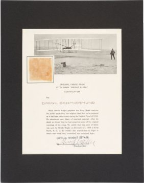 """Wright Brothers Kitty Hawk Plane Relic. A 1.75"""""""