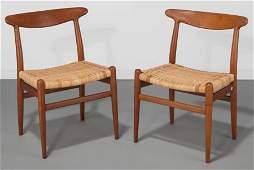 61017: Hans Wegner (Danish, 1914-2007) Pair of Dining C