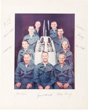 Nasa Astronaut Group Two: Large Color Photo Sign