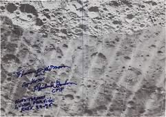 52083 Apollo 12 Flown Map Plate from CSM Orbital Phot