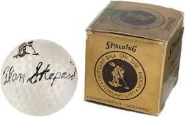 "52110: Alan Shepard Signed Commemorative ""Moonball"" Spa"