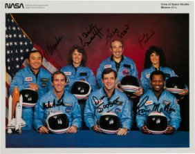 Space Shuttle Challenger (sts-51-l) Crew-signed