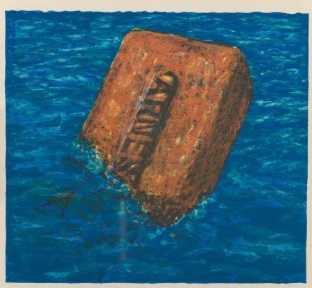 69008: Robert Arneson (1930-1992) Moby Brick, 1975 Lith