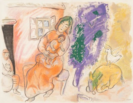 69020: After Marc Chagall (1887-1985) Maternity, 1954 L