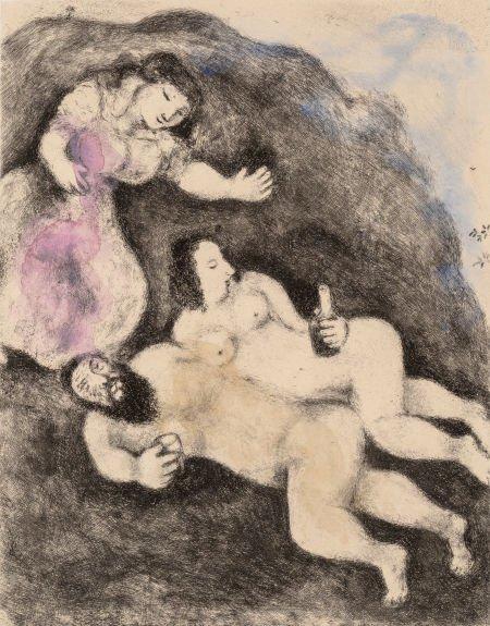 69021: Marc Chagall (1887-1985) Loth et ses filles, pl.