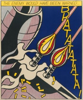 Roy Lichtenstein (1923-1997) As I Opened Fire (t
