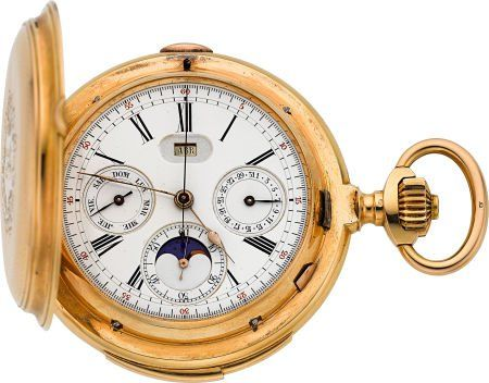 56226: LeCoultre Massive Gold Minute Repeater With Trip
