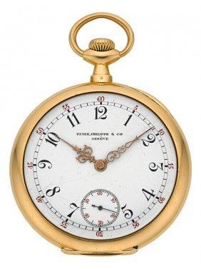 Patek Philippe 18k Yellow Gold Pocket Watch Circ