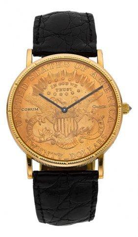 Corum $20 Gold Liberty Coin Wristwatch Case: 22