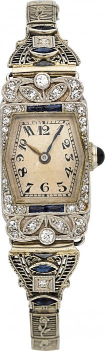 Patek Philippe Lady's Vintage Platinum Wristwatc