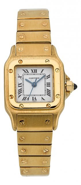 Cartier Santos 18k Yellow Gold Lady's Automatic