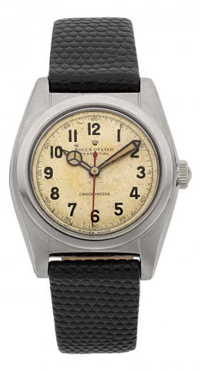 Rolex Ref. 2940 Steel Bubble Back, Circa 1943 C