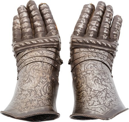 40008: Victorian-Era Gauntlets Made in the Medieval Ger