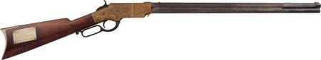 40224: Historic Engraved Henry Model 1860 Lever Action
