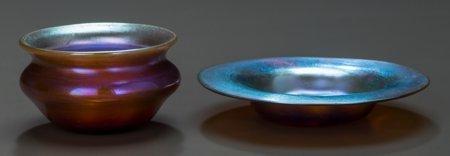 64001: A Tiffany Studios Favrile Glass Salt Cellar with