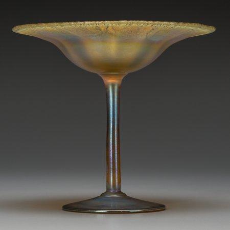 64006: A Tiffany Studios Gold Favrile Glass Compote, Co
