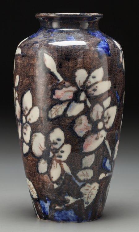 64015: A Rookwood Anniversary Glaze Ceramic Floral Vase