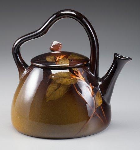 64018: A Rookwood Standard Glaze Floral Teapot, Cincinn