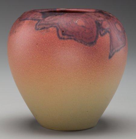 64020: A Rookwood Matte Glaze Ceramic Floral Vase by El