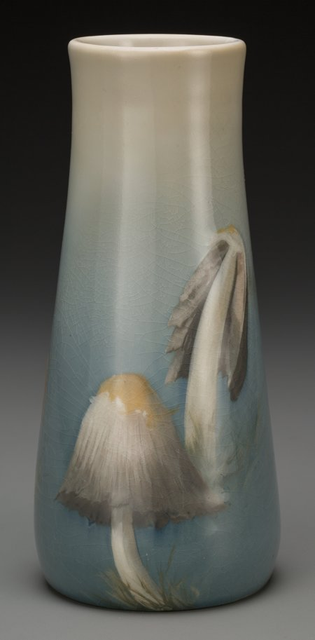 64024: A Drilled Rookwood Standard Glaze Ceramic Wood M