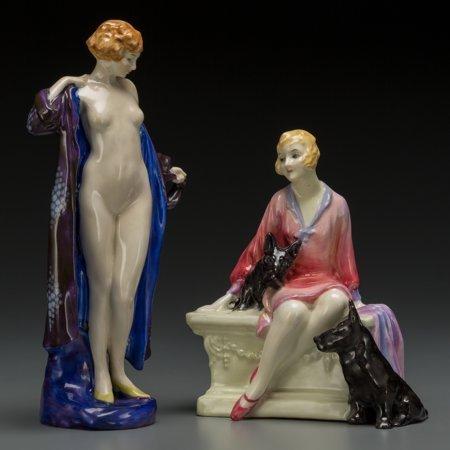 64057: Two Royal Doulton Art Deco Porcelain Figures: Th