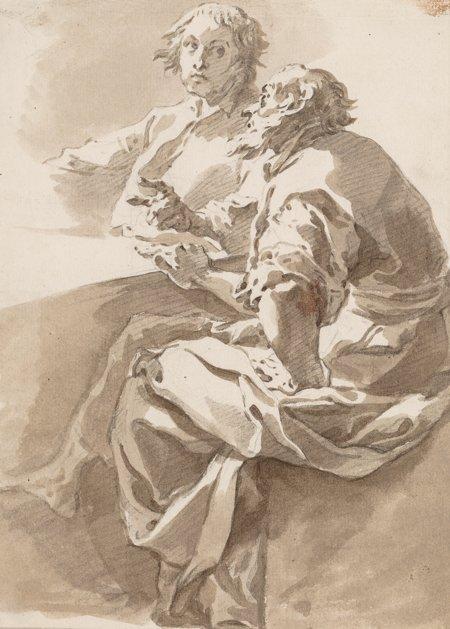65101: Circle of Giovanni Battista Tiepolo  The Disputa