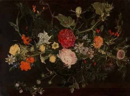 65104: Flemish School (17th Century) A floral still lif