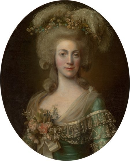 65105: Circle of Alexander Roslin  Portrait of a Lady,