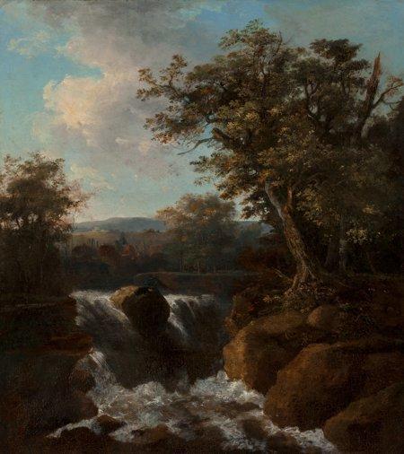 65106: Continental School (19th Century) Cascading Fall