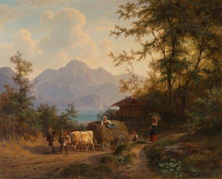 65108: Gustav Meissner (German, 1830-1930) Mountain lan