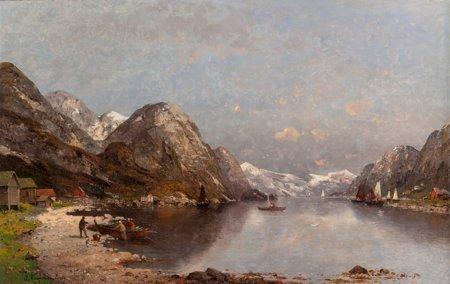 65111: Adolf Kaufmann (Austrian, 1848-1916) Fishermen o