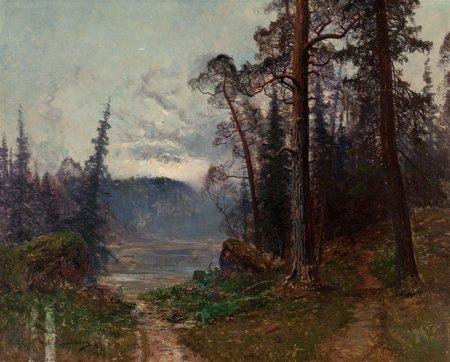 65112: Johan Kindborg (Swedish, 1861-1907) Path to the