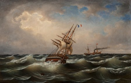 65114: Albert Marees (German, Late 19th Century) Ships