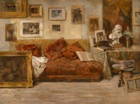 65122: Enrique Miralles (Spanish, b. 1883) The Artist's