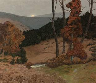 65208: Ben Foster (American, 1852-1926) Autumn Moonrise