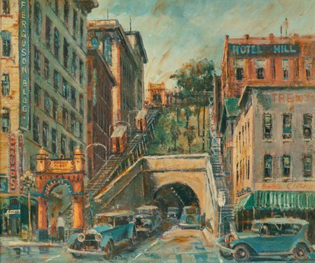 65237: Ben Abril (American, 1923-1995) Angels Flight, L